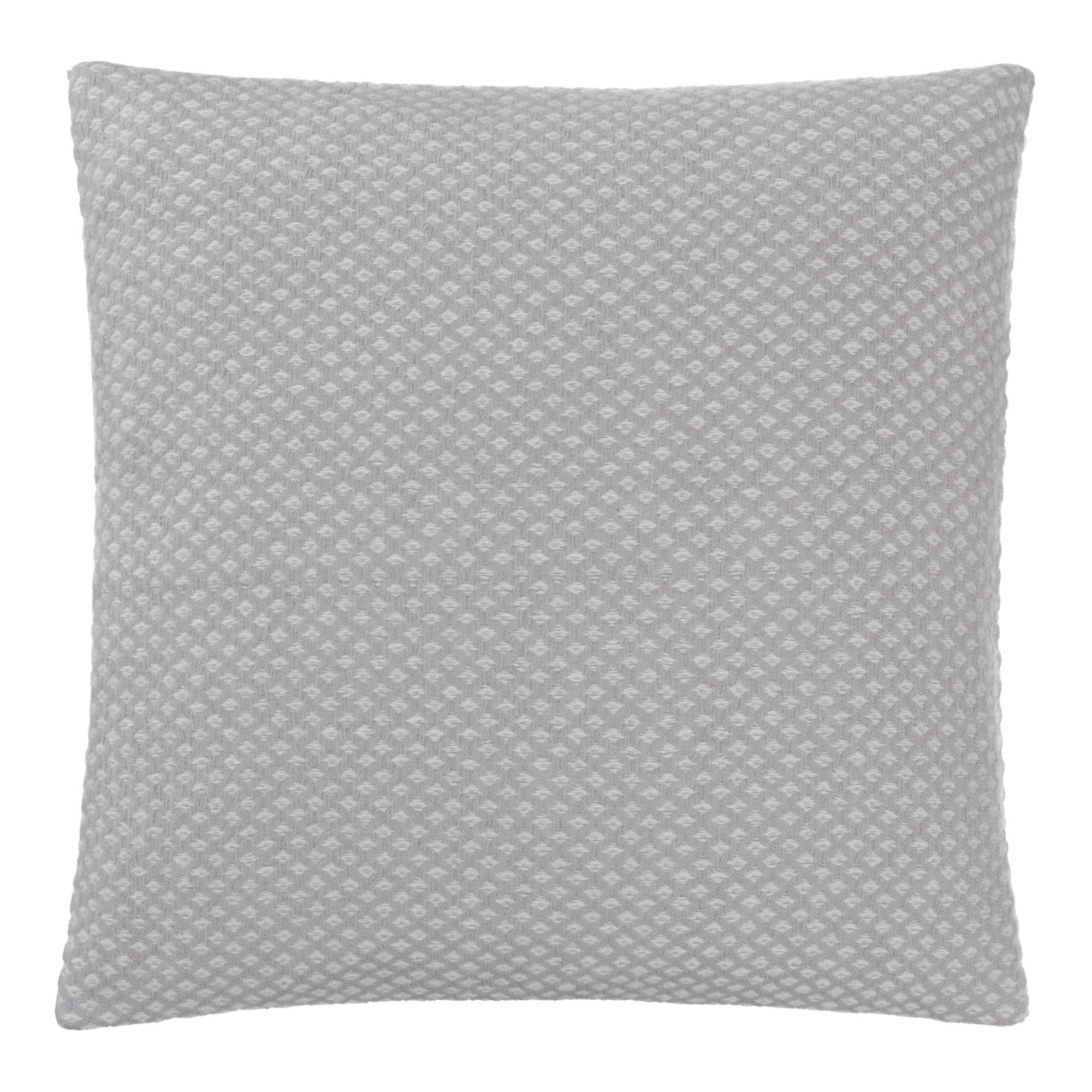 Alashan cushion cover, light grey & cream, 100% cashmere wool