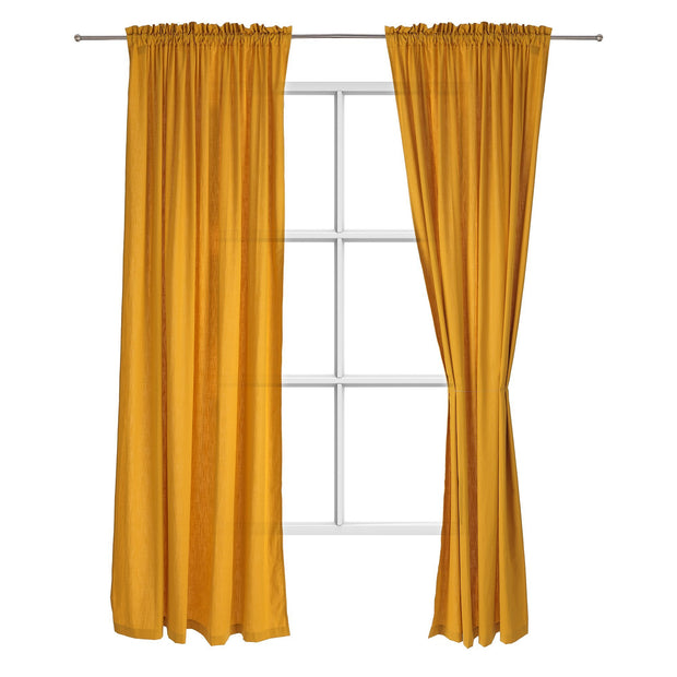 Alegre curtain, mustard, 100% cotton