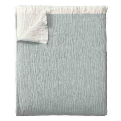 Anaba Bedspread green grey & natural white, 100% cotton
