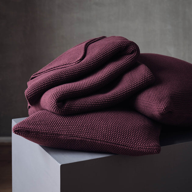 Antua Cotton Blanket [Bordeaux red]