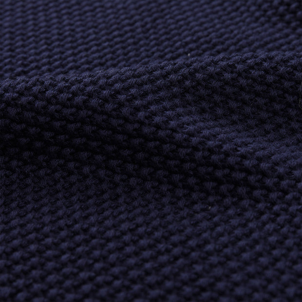 Antua Cotton Scarf dark blue, 100% cotton | URBANARA hats & scarves