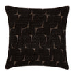 Araku cushion, black & natural, 60% wool & 40% silk