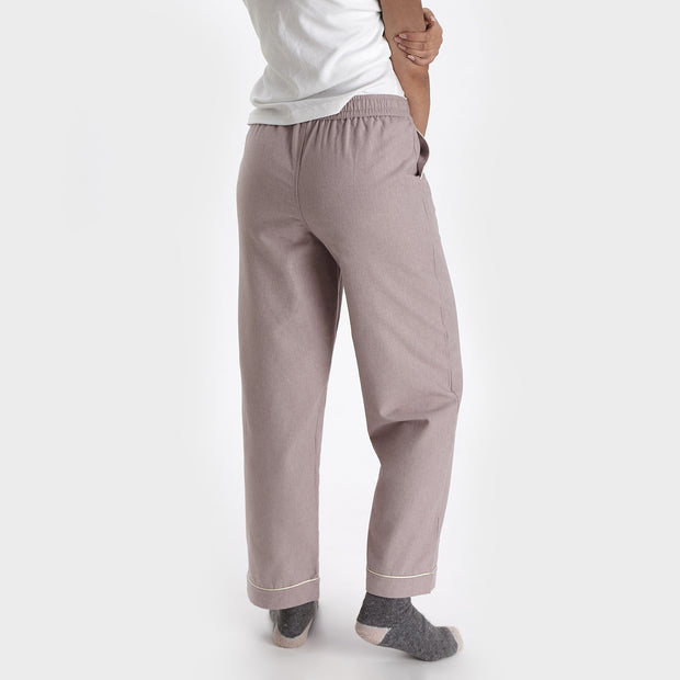Arove pyjama, light mauve & natural white, 100% organic cotton | URBANARA nightwear
