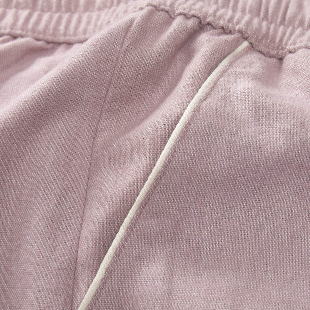Arove pyjama, light mauve & natural white, 100% organic cotton |High quality homewares
