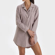 Arove Nightshirt light mauve & natural white, 100% organic cotton