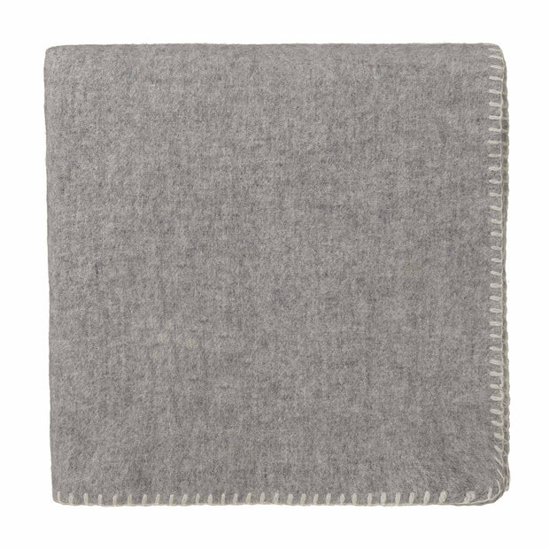 Aspan Blanket light grey & off-white, 60% merino wool & 40% lambswool
