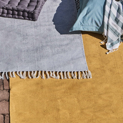 Udaka Rug in mustard | Home & Living inspiration | URBANARA