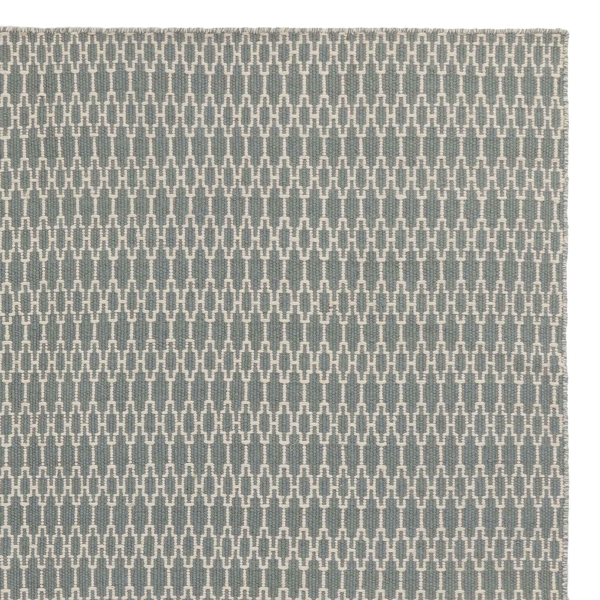 Badela rug, light grey green & ivory, 100% wool
