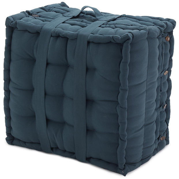Bakoda Folding Mattress teal, 100% cotton & 100% polyester | Find the perfect stools & poufs