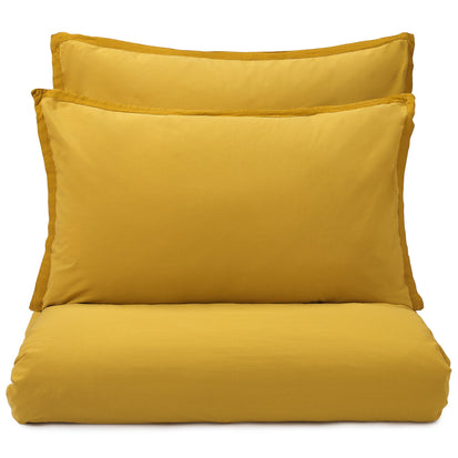 Balaia duvet cover, mustard, 100% combed cotton