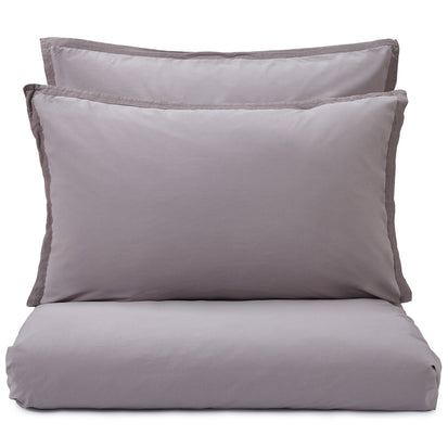Balaia duvet cover, stone grey, 100% combed cotton