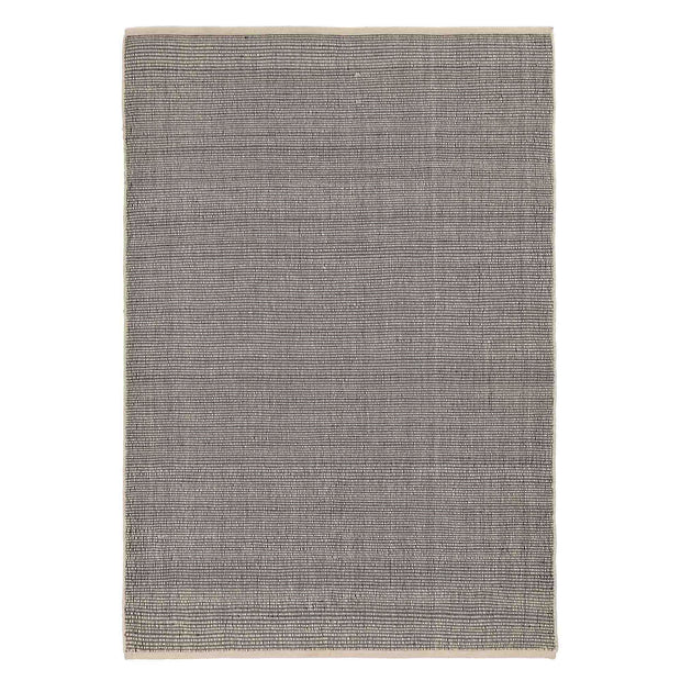 Basni rug, ivory & black, 70% wool & 30% cotton | URBANARA wool rugs
