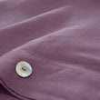 Bellvis Pillowcase Linen aubergine, 100% linen | URBANARA linen bedding