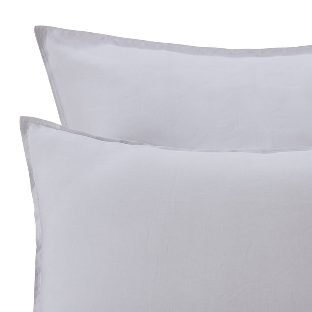 Bellvis Pillowcase light grey, 100% linen | URBANARA linen bedding