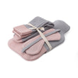 Cadima christmas set, light grey melange & light pink, 100% merino wool