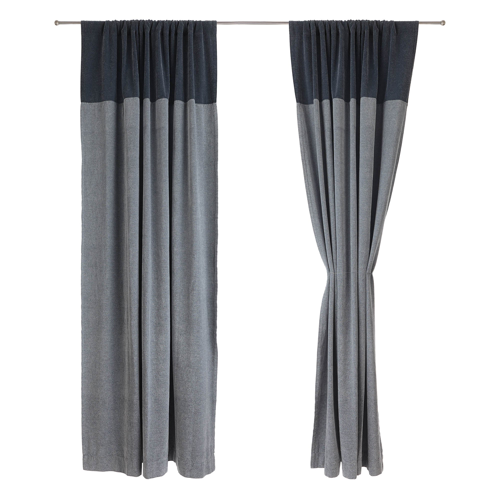 Calcada curtain in teal & white | Home & Living inspiration | URBANARA