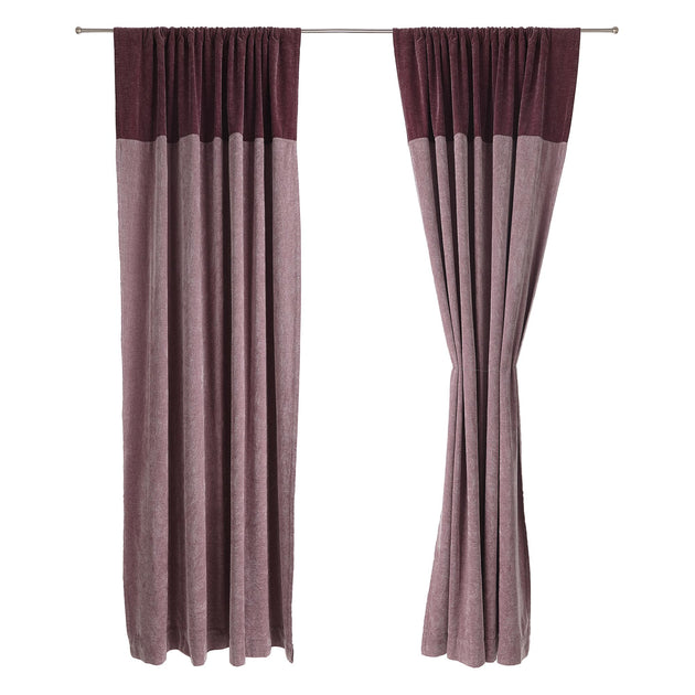 Calcada curtain in bordeaux red & white | Home & Living inspiration | URBANARA