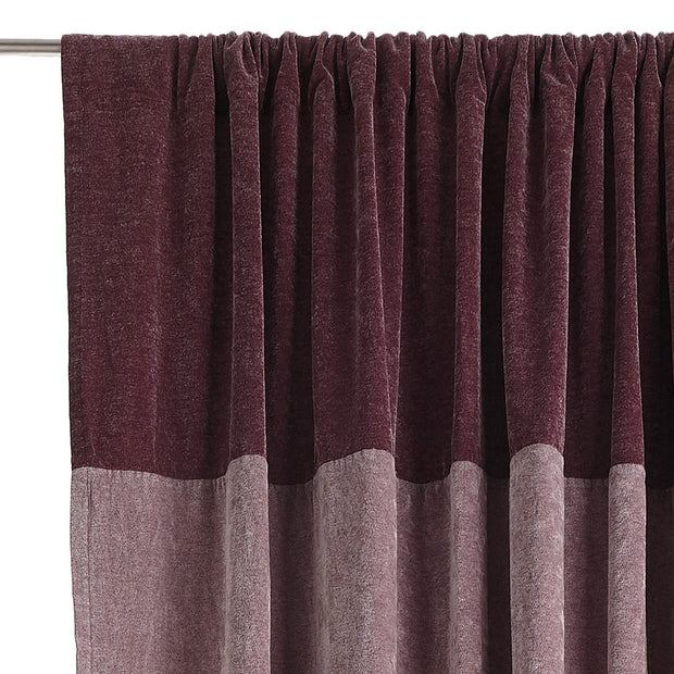 Calcada curtain bordeaux red & white, 60% cotton & 40% acrylic | URBANARA curtains