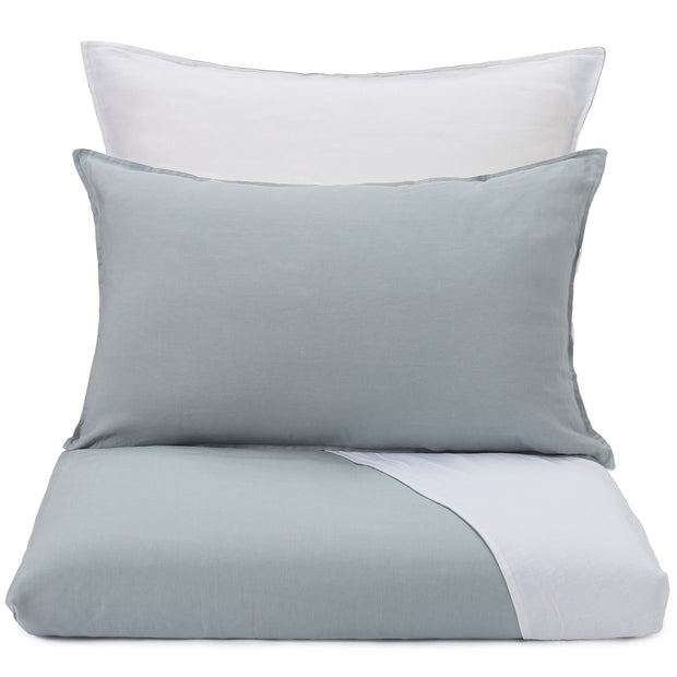 Cercosa Bed Linen green grey & white, 100% linen