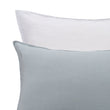 Cercosa Bed Linen green grey & white, 100% linen | URBANARA linen bedding