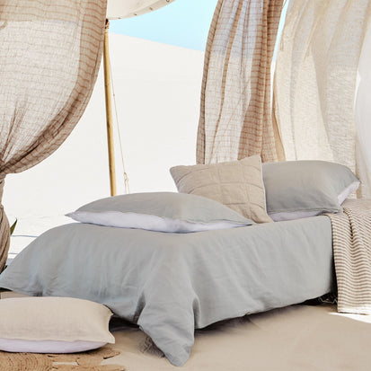 Cercosa Bed Linen in green grey & white | Home & Living inspiration | URBANARA