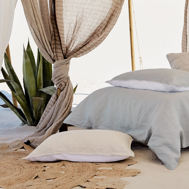 Cercosa Bed Linen in natural & white | Home & Living inspiration | URBANARA