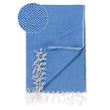 Cesme Hammam Towel blue & white, 100% cotton