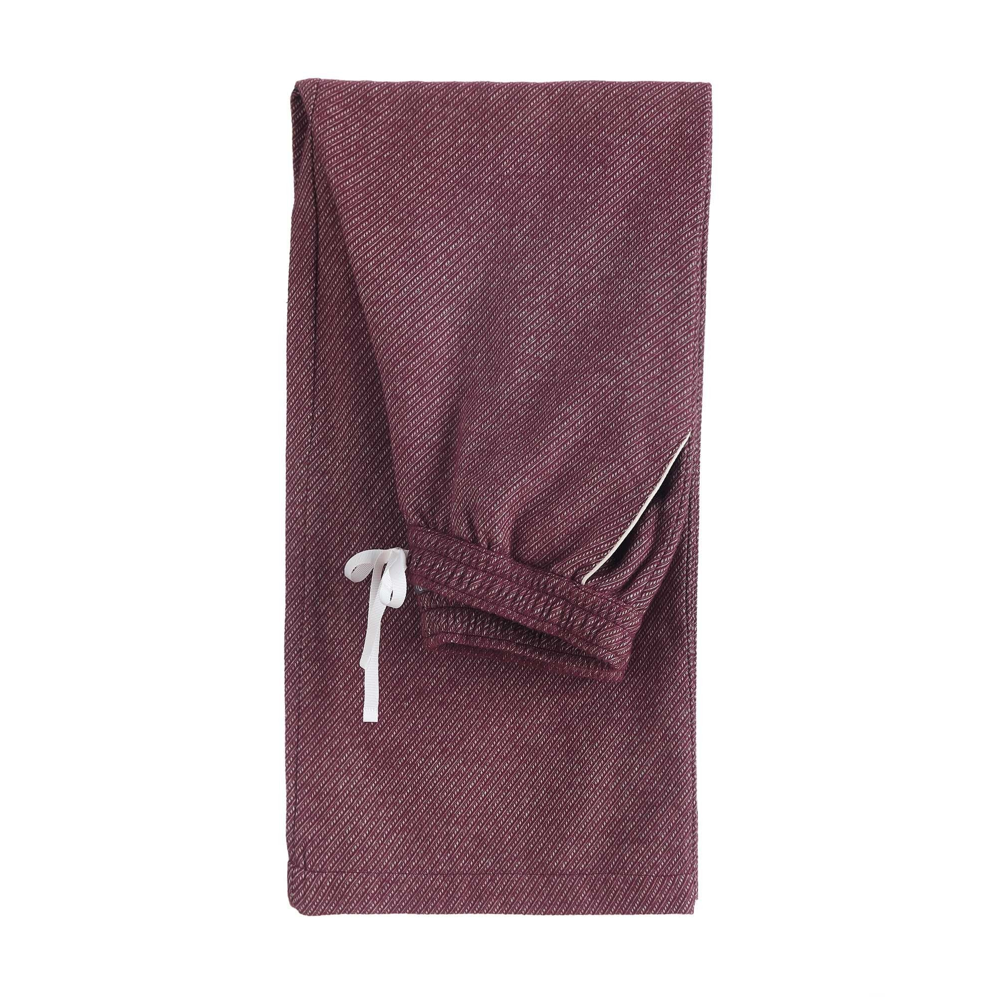 Bordeaux red & Natural white Coja Pyjama | Home & Living inspiration | URBANARA