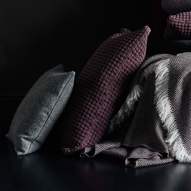 Veiros Sao Cushion in bordeaux red | Home & Living inspiration | URBANARA