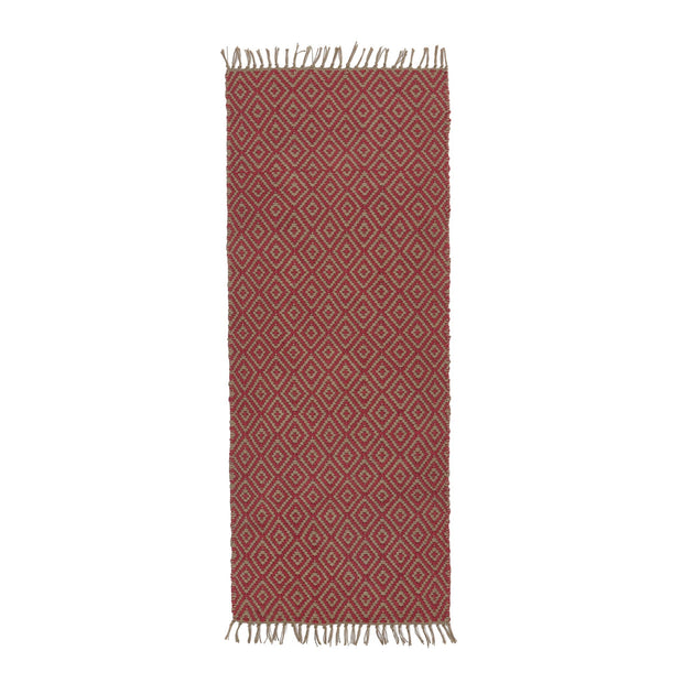 Dasheri Runner red, 100% jute | URBANARA runners
