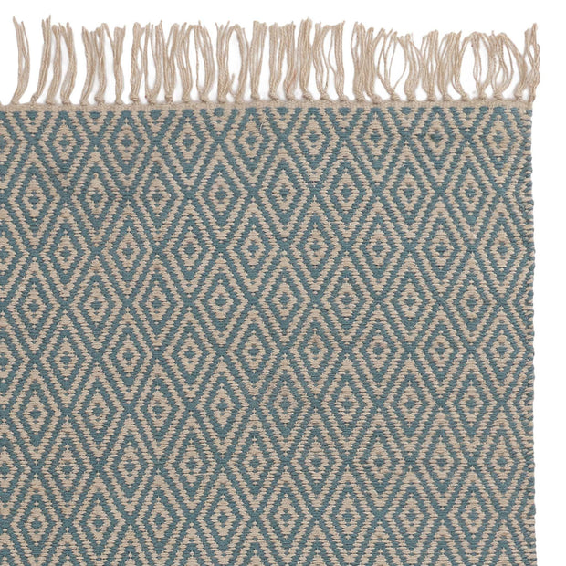 Dasheri Rug green grey & off-white, 100% jute