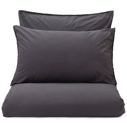 Fajao duvet cover, charcoal, 100% combed cotton