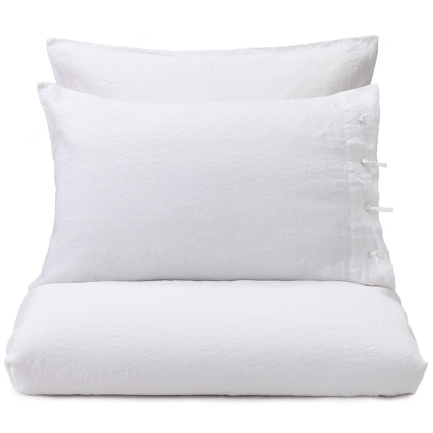 Figuera pillowcase, white, 100% linen