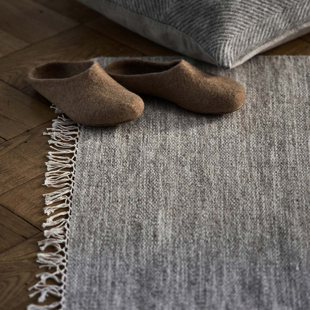 Pugal Runner sandstone melange, 100% wool | High quality homewares