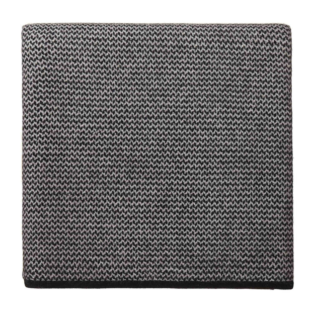 Foligno Cashmere Blanket black & cream, 100% cashmere wool