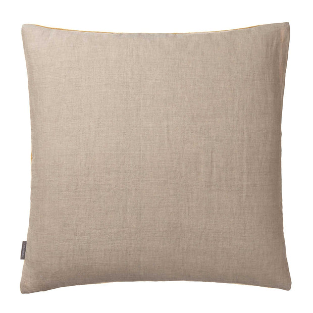 Fyn cushion cover, mustard & natural, 100% new wool & 100% linen |High quality homewares