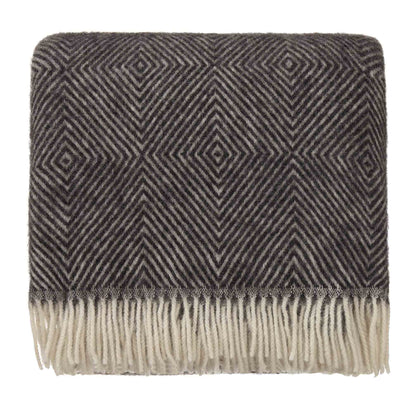 Gotland blanket, black & cream, 100% new wool