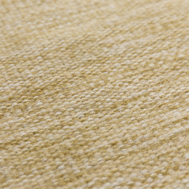 Gravlev Rug mustard & off-white, 50% new wool & 50% cotton | URBANARA wool rugs