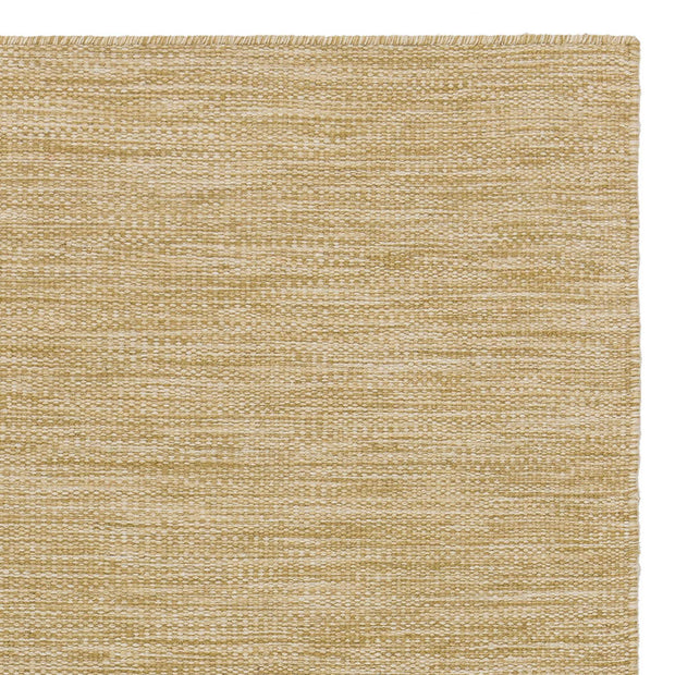 Gravlev Rug mustard & off-white, 50% new wool & 50% cotton