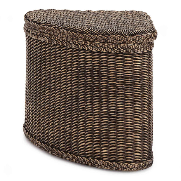 Java Laundry Basket dark brown, 100% rattan