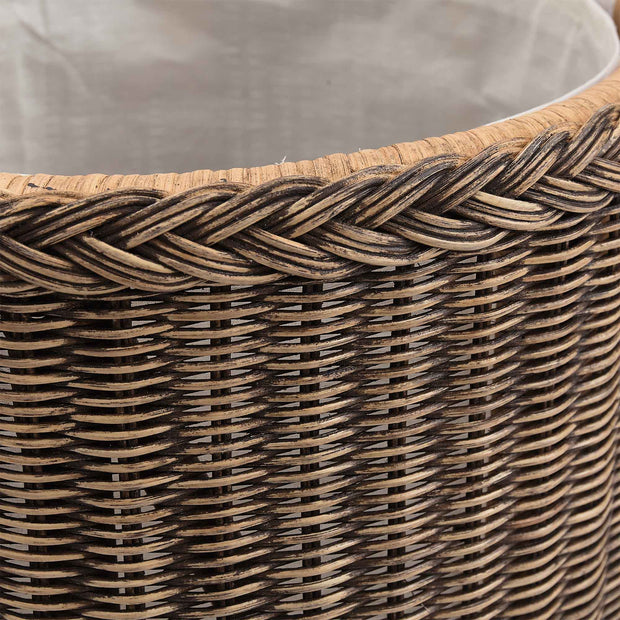Java Laundry Basket dark brown, 100% rattan | High quality homewares
