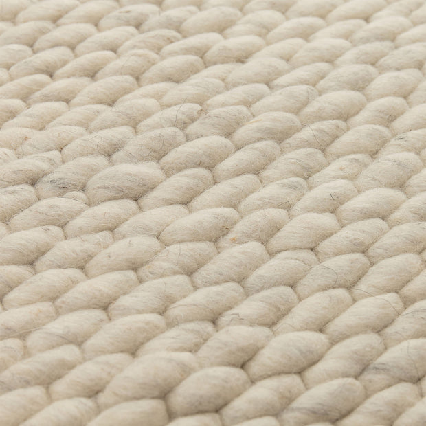 Kalu rug, ivory, 48% wool & 52% cotton |High quality homewares