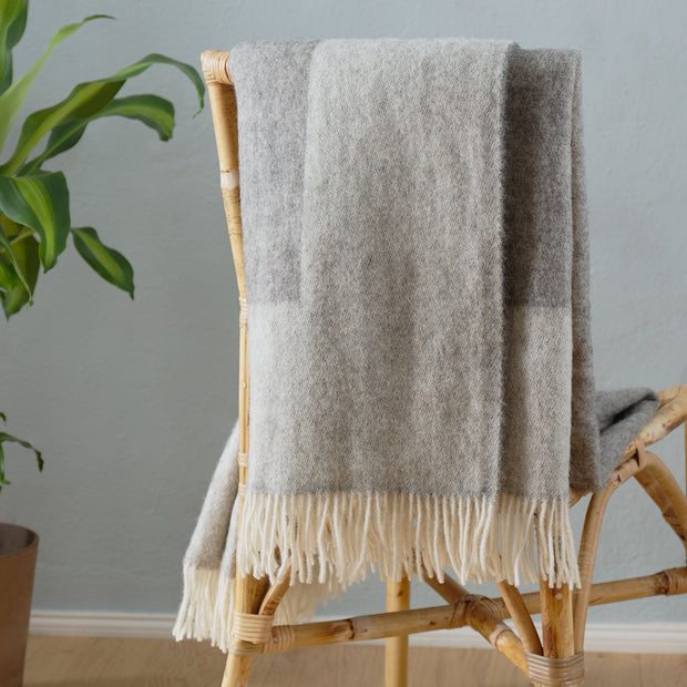 Karby Wool Blanket in charcoal & light grey | Home & Living inspiration | URBANARA