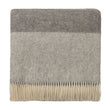 Karby Wool Blanket charcoal & light grey, 100% new wool
