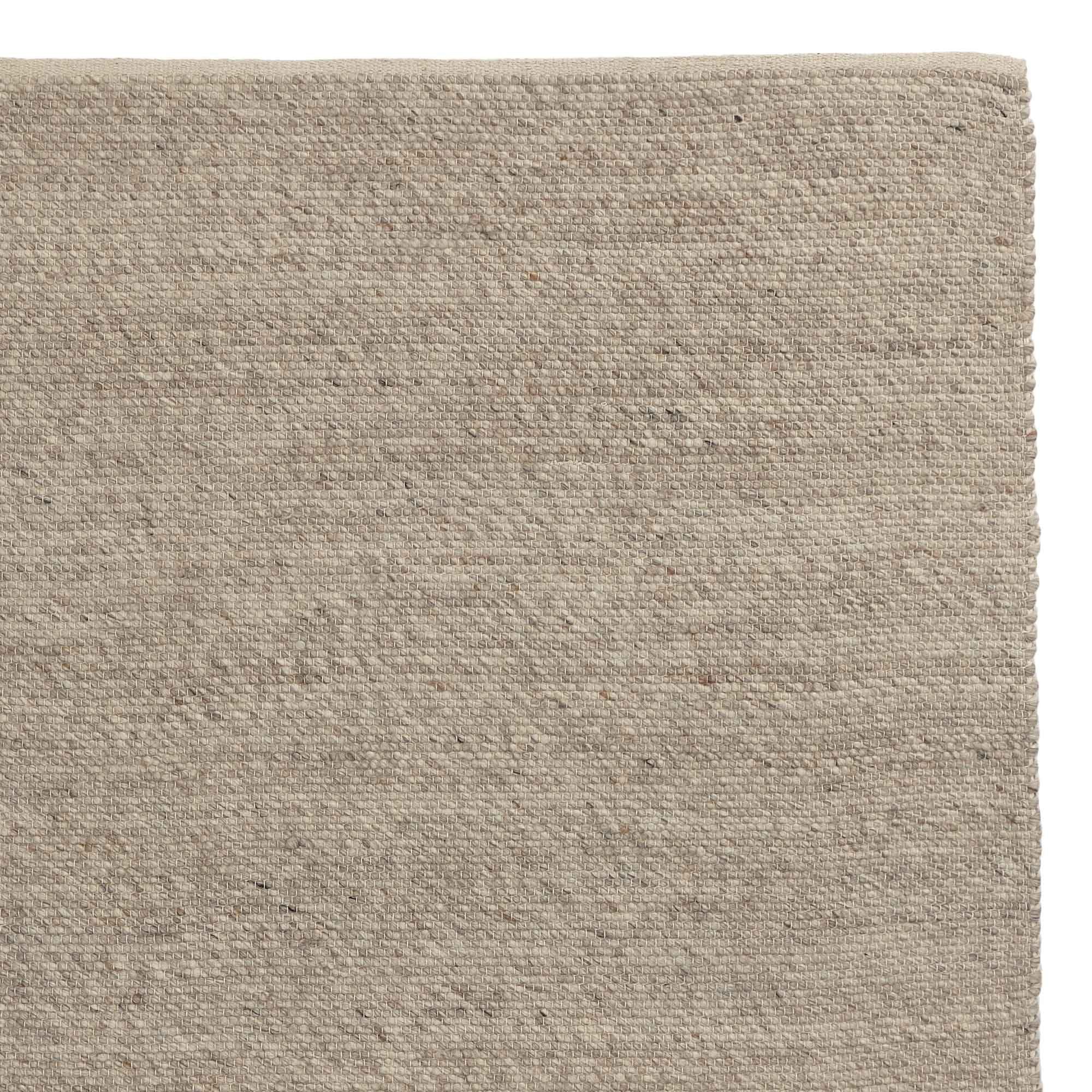 Kesar rug, cream & grey & sand, 60% wool & 15% jute & 25% cotton