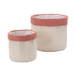 Khuwa Storage off-white & papaya, 100% cotton | URBANARA storage baskets