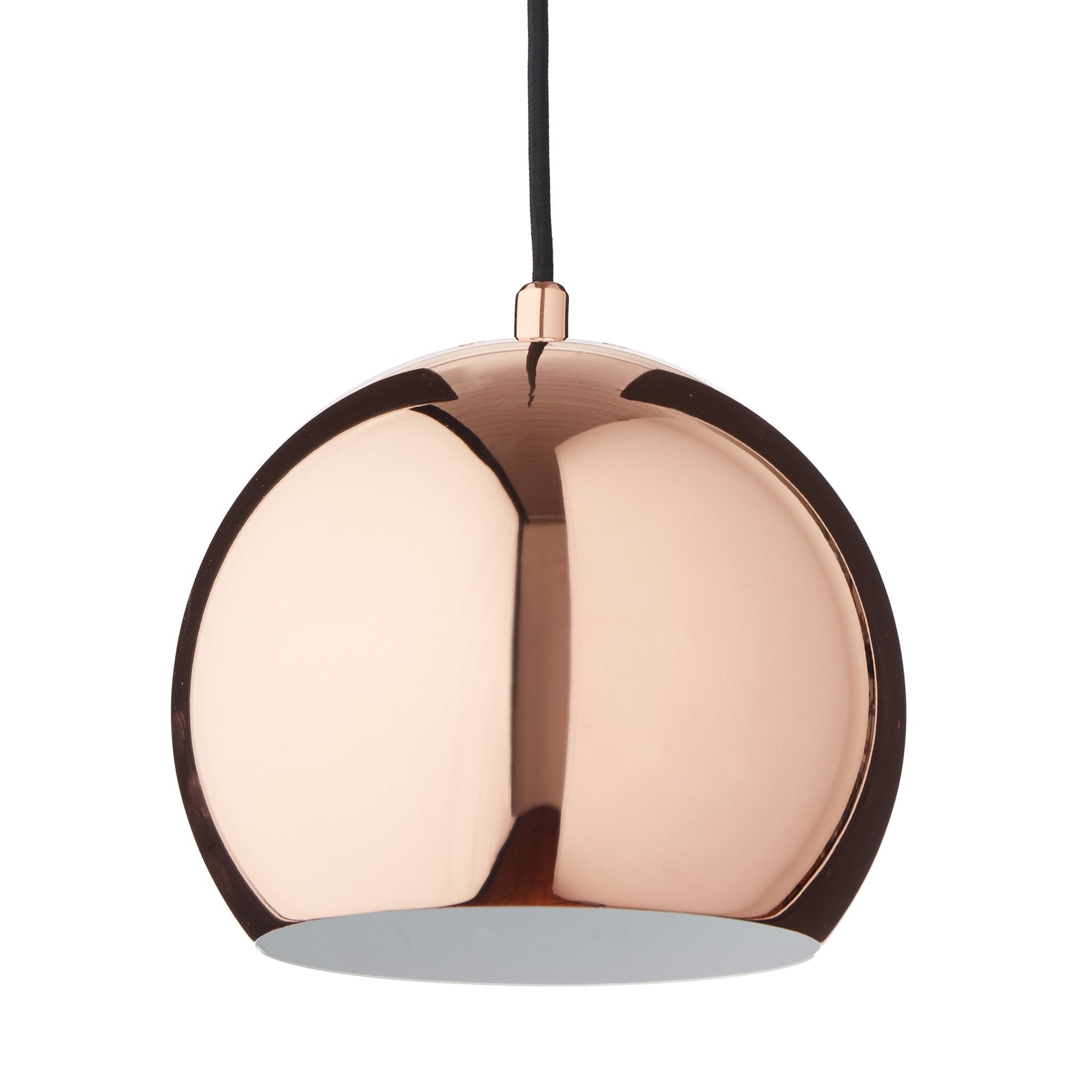 Koge Ball Pendant Lamp copper & black, 100% stainless steel