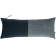 Belur cushion, green grey & teal, 100% cotton & 100% linen