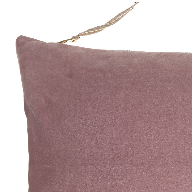 Belur cushion, blush pink & grey & natural, 100% cotton & 100% linen |High quality homewares