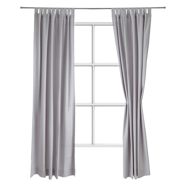 Largo curtain, light grey, 100% cotton